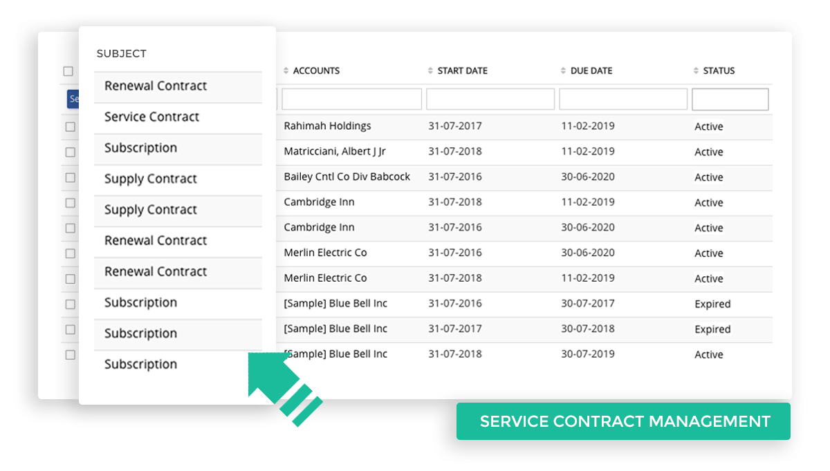 Service Contract Management