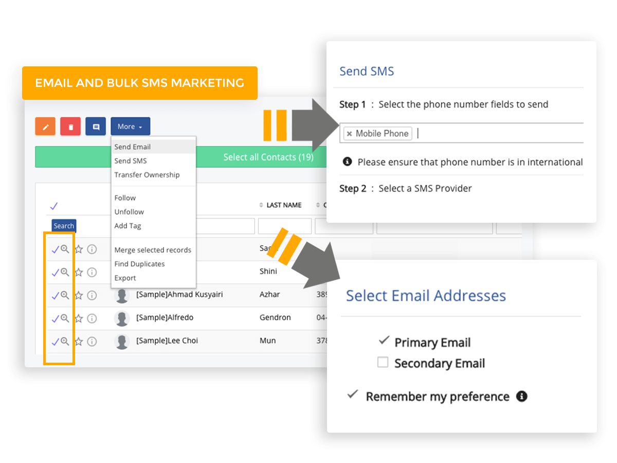 Email and bulk SMS marketing